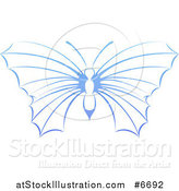 Vector Illustration of a Gradient Blue Butterfly by AtStockIllustration
