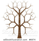 Vector Illustration of a Gradient Brown Bare Tree by AtStockIllustration