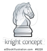 Vector Illustration of a Gradient Chess Knight Piece over Sample Text by AtStockIllustration