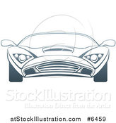 Vector Illustration of a Gradient Dark Blue Sports Car by AtStockIllustration