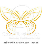 Vector Illustration of a Gradient Dark Yellow Butterfly by AtStockIllustration