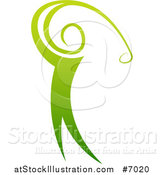 Vector Illustration of a Gradient Green Golfer Man Swinging a Club by AtStockIllustration