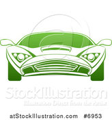 Vector Illustration of a Gradient Green Sports Car by AtStockIllustration