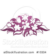 Vector Illustration of a Gradient Purple Flower Bouquet by AtStockIllustration