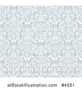 Vector Illustration of a Gray Seamless Middle Eastern Arabic Motif Background Pattern by AtStockIllustration