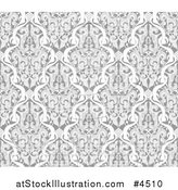Vector Illustration of a Grayscale Seamless Islamic Motif Pattern by AtStockIllustration