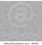 Vector Illustration of a Grayscale Seamless Middle Eastern Pattern by AtStockIllustration