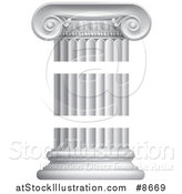 Vector Illustration of a Greek or Roman Column Pillar in Three Pieces by AtStockIllustration