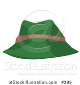 Vector Illustration of a Green and Tan Hat by AtStockIllustration