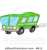 Vector Illustration of a Green Bus for Public Transportation by AtStockIllustration