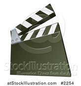 Vector Illustration of a Green Clapperboard by AtStockIllustration