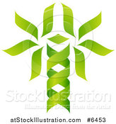 Vector Illustration of a Green DNA Double Helix Tree Shaped like a Caduceus by AtStockIllustration