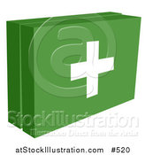 Vector Illustration of a Green First Aid Box Kit with a White Cross, Ready for a Medical Emergency by AtStockIllustration