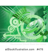 Vector Illustration of a Green Internet Background with a Loud Speaker by AtStockIllustration