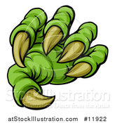 Vector Illustration of a Green Monster Claw with Sharp Talons by AtStockIllustration