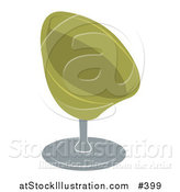 Vector Illustration of a Green Oval Chair by AtStockIllustration