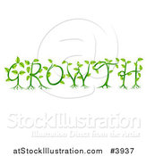 Vector Illustration of a Green Plants and Roots Spelling GROWTH by AtStockIllustration