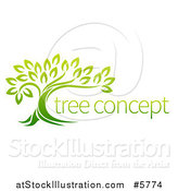 Vector Illustration of a Green Tree and Concept Text by AtStockIllustration