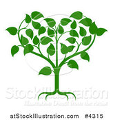 Vector Illustration of a Green Tree Forming a Heart by AtStockIllustration