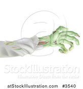 Vector Illustration of a Green Zombie Arm by AtStockIllustration