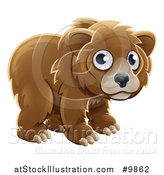 Vector Illustration of a Grizzly Bear Cub by AtStockIllustration