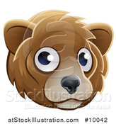 Vector Illustration of a Happy Bear Face Avatar by AtStockIllustration