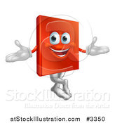 Vector Illustration of a Happy Book Mascot by AtStockIllustration