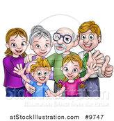 Vector Illustration of a Happy Caucasian Family Posing Together by AtStockIllustration