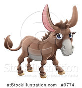 Vector Illustration of a Happy Cute Donkey by AtStockIllustration
