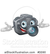 Vector Illustration of a Happy DSLR Camera Mascot by AtStockIllustration