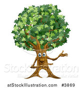 Vector Illustration of a Happy Ent Tree Presenting by AtStockIllustration