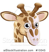 Vector Illustration of a Happy Giraffe Face Avatar by AtStockIllustration