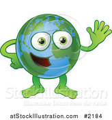 Vector Illustration of a Happy Globe Waving by AtStockIllustration