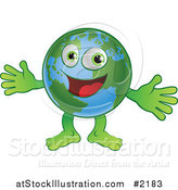 Vector Illustration of a Happy Globe Welcoming by AtStockIllustration
