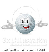 Vector Illustration of a Happy Golf Ball Mascot by AtStockIllustration