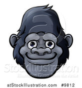 Vector Illustration of a Happy Gorilla Face by AtStockIllustration