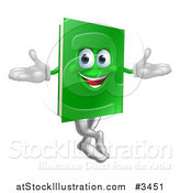 Vector Illustration of a Happy Green Book Mascot by AtStockIllustration