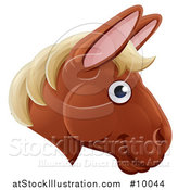 Vector Illustration of a Happy Horse Face Avatar by AtStockIllustration