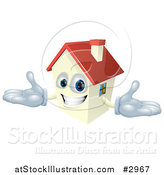 Vector Illustration of a Happy House Mascot with a Red Roof by AtStockIllustration