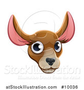 Vector Illustration of a Happy Kangaroo Face Avatar by AtStockIllustration
