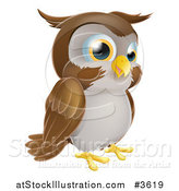 Vector Illustration of a Happy Owl by AtStockIllustration