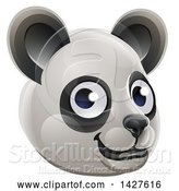 Vector Illustration of a Happy Panda Face Avatar by AtStockIllustration