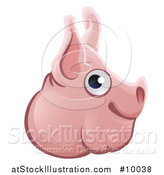 Vector Illustration of a Happy Pig Face Avatar by AtStockIllustration
