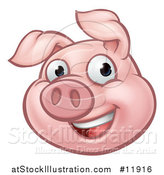 Vector Illustration of a Happy Pig Mascot by AtStockIllustration