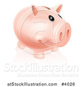 Vector Illustration of a Happy Piggy Bank Smiling by AtStockIllustration