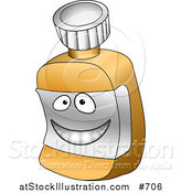 Vector Illustration of a Happy Pill Bottle Character by AtStockIllustration