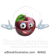 Vector Illustration of a Happy Red Apple Mascot by AtStockIllustration