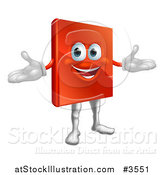 Vector Illustration of a Happy Red Book Mascot by AtStockIllustration