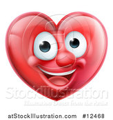 Vector Illustration of a Happy Red Love Heart Mascot by AtStockIllustration
