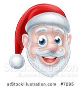 Vector Illustration of a Happy Santa Claus Face by AtStockIllustration